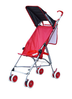 BeBeLove USA Single Umbrella Stroller, Solid Red