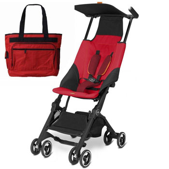 Goodbaby-GB-616230015-Pockit-Stroller-with-Diaper-Bag-Dragonfire-Red