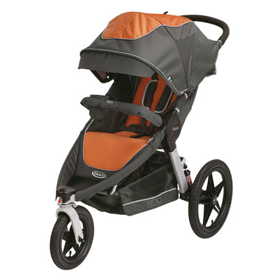 Graco's Relay Click Connect Jogging Stroller Tangerine