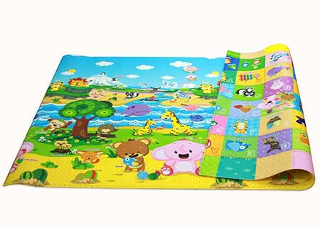 Baby-Care-Play-Mat-Foam-Floor-Gym---Non-Toxic-Non-Slip-Reversible-Waterproof,-Pingko-and-Friends