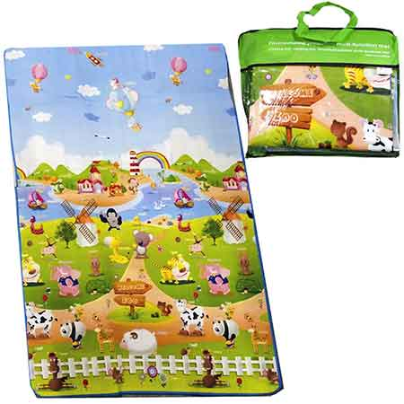 DOUBLE-SIDED-BABY-CRAWLING-PLAY-MAT---Extra-Large-120CM-X-180CM-Reversible-Baby-Floor-Mat,-Educational-Playmat-&-Play-Gym