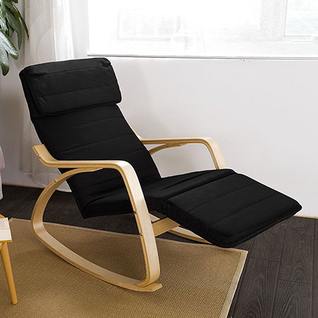 SoBuy Relax Rocking Chair with Foot Rest Design