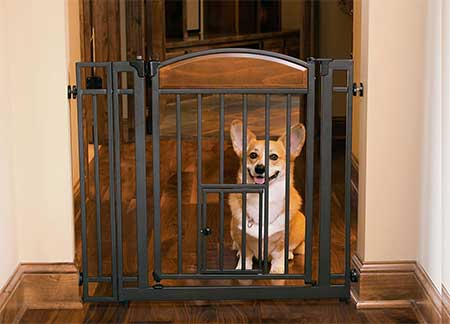 Design-Studio-Walk-thru-Gate-with-Small-Pet-Door
